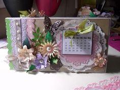 Calendario hecho a mano.