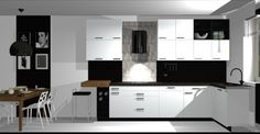 Vizualizácie   Kuchyne a kuchynské štúdiá DOMOSS Kitchen Island, Kitchen Cabinets, Home Decor, Island Kitchen, Decoration Home, Room Decor, Kitchen Cupboards, Interior Design, Home Interiors