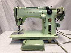Vintage Singer Model 319W Sewing Machine With Pedal Tested Working