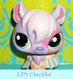 Littlest Pet Shop~#1695 STAR LILAC PURPLE VAMPIRE BAT Jet Nightly.  Visit mylittlestpetshops.com for more pets!