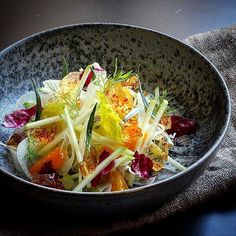 Fennel Tangerine Green apple Celery Cidre jelly Chili & Tarragon by Salad Recipes, Healthy Recipes, Cooking Recipes, Good Food, Yummy Food, Health Eating, Macaron, Food Design, Food Presentation