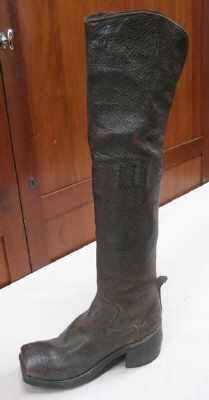 Boot.  DATING  1700's  OTHER KEYWORDS  boot  COLLECTION OF THE  Royal Armoury  INVENTORY  27,366 (15:39)