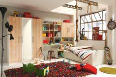 """""""Dieses Jugendzimmer von VENDA überzeugt gleich mit 4 Möbeln: Zum Komplettpreis erhalten Sie ein gemütliches Bett (Liegefläche: ca. 90 x 200 cm), einen geräumigen Kleiderschrank (B: ca. 140 cm), ein Regal und einen Schreibtisch. Die helle Farbkombination in Weiß und Apfelbaumfarben sorgt für eine freundliche Atmosphäre im Jugendzimmer. Diese Einrichtung bietet alles, was junges Wohnen auszeichnet. Der Kleiderschrank mit 3 Türen birgt viel Raum für Pullover, T-Shirts und Jeans, der inte"""