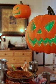 The Charm of Home: floating pumpkins Hogwarts recreation:)