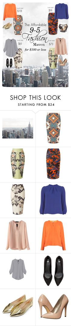 """Frugal Office Fashionista"" by marlea-z-wilson on Polyvore featuring Dorothy Perkins, Miss Selfridge, Topshop, Michael Antonio and Nine West"