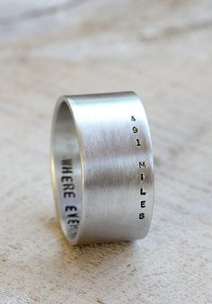 Long distance love ring from Praxis Jewelry. Include an secret inside message.