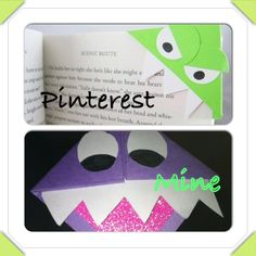 Monster bookmarks. I love these!