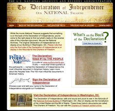 Declaration of Independence Online Exhibit