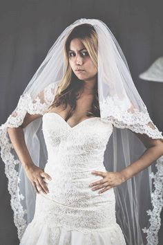 2 tier chapel length veil color ivory with comb by StevenBridal on Etsy https://www.etsy.com/listing/246786447/2-tier-chapel-length-veil-color-ivory