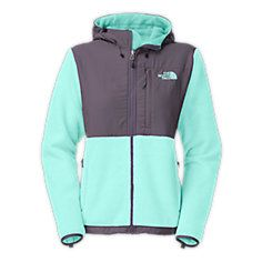 white denali hooded north face jacked (M)
