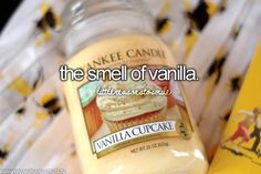 The smell of vanilla