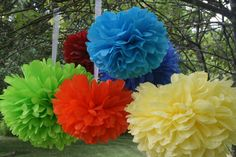 Check out this item in my Etsy shop https://www.etsy.com/listing/233856227/decorative-paper-poms-set-of-10-birthday