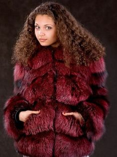 Red Fur, Fur Clothing, Crazy Colour, Fur Fashion, Fur Jacket, Sexy Women, Beautiful Women, Fur Coats, Celebrities