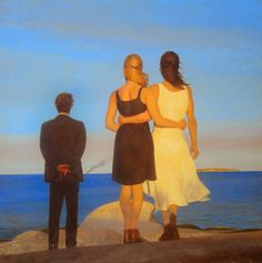 "Painting: ""An Incident at Sea"" – by Georgia born artist, Bo Bartlett (oil on birch panel American Realism, American Artists, Figure Painting, Painting & Drawing, Georgie, Bo Bartlett, Magic Realism, Art Moderne, Artist Gallery"