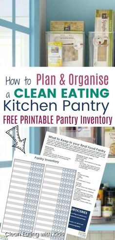 How to Organize a Clean Eating Kitchen Pantry. How to Organize a Clean Eating Kitchen Pantry. Recipe Organization, Pantry Organization, Pantry Ideas, Planning And Organizing, Meal Planning, Organization Ideas, Planning Board, Organizing Life, Clean Eating Recipes
