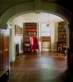 Thomas Jefferson home library & his actual chair he used while Vice President