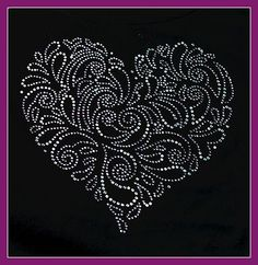 Huge Rhinestone Crystal Aurora Heart