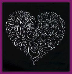 Huge Rhinestone Crystal Aurora Heart
