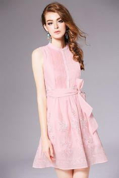 Designer Pleated Embroidery dress