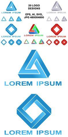 20 impossible polygon logo designs #unreal #LogoDesignTemplate #AbstractLogoTemplates #AbstractLogoTemplate #GeometricalLogo #optical #GeometricLogo #polygon #LogoDesignTemplates #geometric #AbstractLogoDesign #square #AbstractLogo #AbstractLogo #rectangle #icon #LogoTemplates #logotemplate Polygon Logo, Best Logo Design, Graphic Design, Vector Design, Design Logos, Free To Use Images, Abstract Logo, Logo Images, Behance