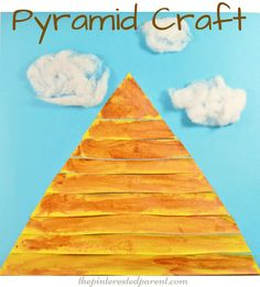 Egyptian pyramid craft for kids - preschooler arts & craft activities - Egypt,,
