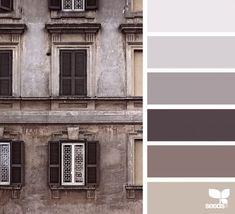 color window, by design seeds Taupe Color Palettes, Colour Pallette, Taupe Rooms, Paleta Pantone, Color Concept, Room Color Schemes, Design Seeds, Decoration Design, Window Design