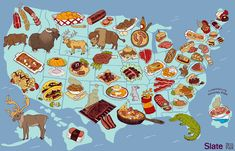 United Steaks of America map: If each state could have only one meat, what would it be?