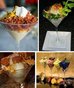 Mashed potato martini bar- This looks SO yummy! Kids & grown-ups would both love it! Wedding Food Stations, Wedding Reception Food, Wedding Menu, Wedding Ideas, Wedding Inspiration, Mashed Potato Bar, Mashed Potatoes, Martini Bar, Catering