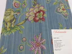 PRODUCT TYPE :  FABRIC  MANUFACTURER: Scalamandre  PATTERN: 26847 - 001, 002, 003, 005  NAME:	Fleur #Des #Indes Jacquard  COLOR:                  001 - Multi On Ivo... #fabric #supplies #scalamandre #cotton #ivory #jacquard #viscose #fleur #des #indes #blue #sky #yellow