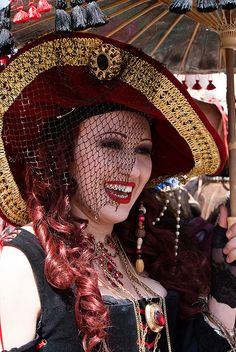 Woman in Red Hat at Renaissance Faire | Flickr - Photo Sharing!