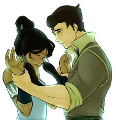 This so like a brother and sister moment. Bolin and Mako both are very protective of Korra and Asami.