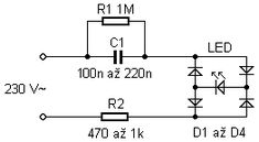 LED Indicator for 220V AC Mains