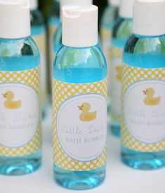Personalized bubble bath. Cute party favor idea for a baby shower or birthday.