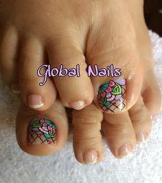 Toe Nail Art, Toe Nails, Cute Pedicures, Nail Art Designs, Hair Beauty, Lily, Polish, Pretty, Work Nails