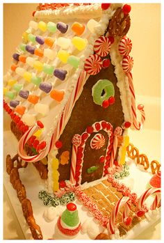 Gingerbread House...taking notes for our gingerbread house construction project.