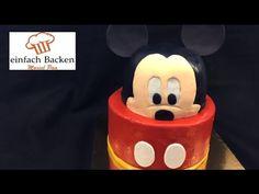 3D Mickey Mouse Torte/Cake - von einfachBacken Schweiz - YouTube
