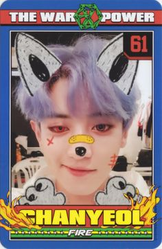 Chanyeol - 170907 'The War: The Power of Music' album photocard Credit: Spunky Action, Baby!.