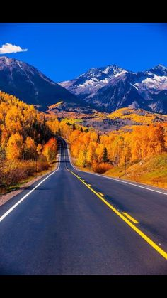 Fall color Colorado Highway 145 in the San Juan Mountains near Telluride Colorado USA. more with healing sounds: Beautiful Roads, Beautiful Landscapes, Beautiful Places, Le Colorado, Telluride Colorado, Colorado Mountains, Pagosa Springs Colorado, San Juan Mountains, Parcs