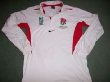 England L/s 2003 World Cup Champions Rugby Union Shirt Adults XL Top