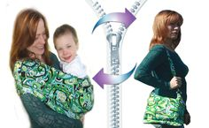 Cub Co-Z Convertible Carrier - Sling-Style Baby Carrier to Compact Diaper Bag in ONE zip! Four carrying positions for up to 35lb toddlers. #babycarrier #babygift #babysling #Diaperbag $99.00