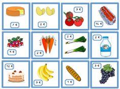 La marchande Kindergarten Math, Teaching Math, Homeschool Math, Teaching French, Dramatic Play, Montessori, Euro, Blog, Raha