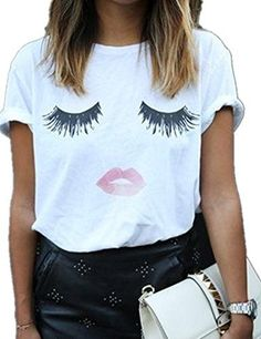 Haola Summer Fashion Women Cute Short Sleeve Printed Tops Casual T Shirt ** You can get more details at