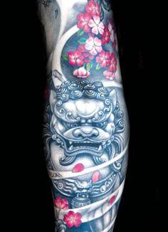 Japanese piece by Jin O #Japanese #tattoo #tattoos