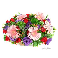 Hermoso Arreglo Lisianthus Gerberas Rosas !| Envia Flores
