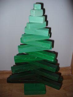 Eklektický domov: Dřevěný stromečekVyrobit si tento stromeček je vel...