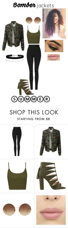 """Untitled #20"" by danielle-veronica ❤ liked on Polyvore featuring Topshop, LE3NO, Victoria Beckham, Miss Selfridge and bomberjackets"