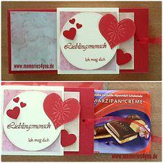 #schokoladenschachtel gemacht mit #crealies #stanzen #www.memories4you #stempel und #mariannedesign #herzen