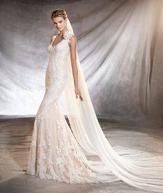 ORMA - Brautkleid mit V-Ausschnitt im Meerjungfrau-Stil