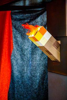 paper mache torches