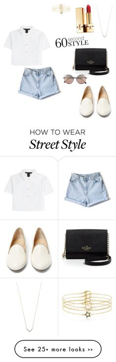"""60 second style"" by ellalevko on Polyvore featuring Marc by Marc Jacobs, Adina Reyter, Charlotte Olympia, Yves Saint Laurent, Accessorize, Kate Spade and Linda Farrow"